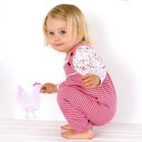 Vorschau: Wende Dreiecktuch Huhn 0-15 Monate