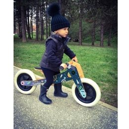 """Laufrad Dreirad Holz  Astronaut """"3in1"""" mitwachsend ab 12 Monaten"""
