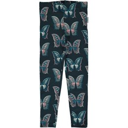 Leggings coole Schmetterlinge navy dünn und elastisch