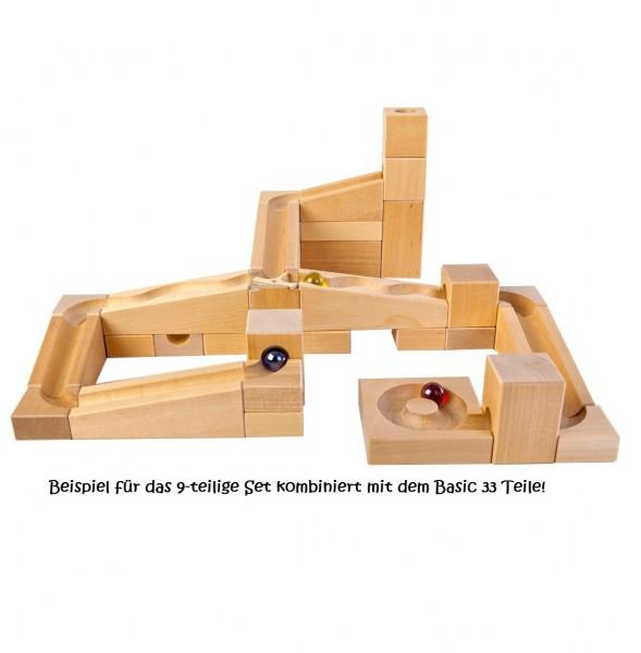 Murmelbahn Ergänzungs Set 7-tlg. Mit Pfiff - freies Bauen &
