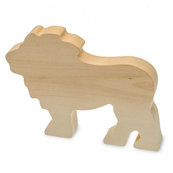 Schnitzrohling Holztier - Löwe