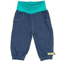 Weiche Kinderhose Jeansoptik blau