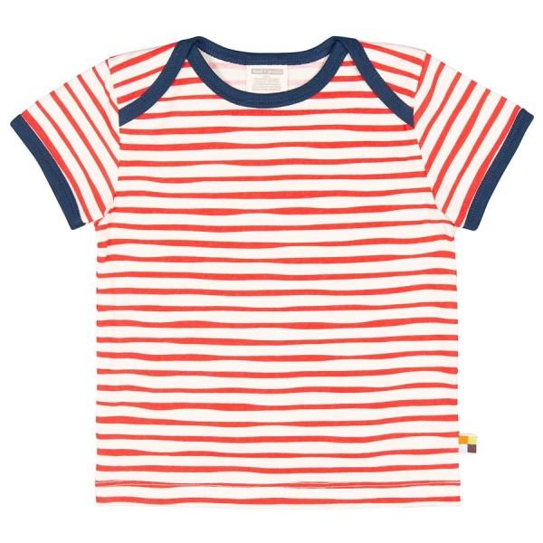 Shirt kurzam rote Tiger-Streifen