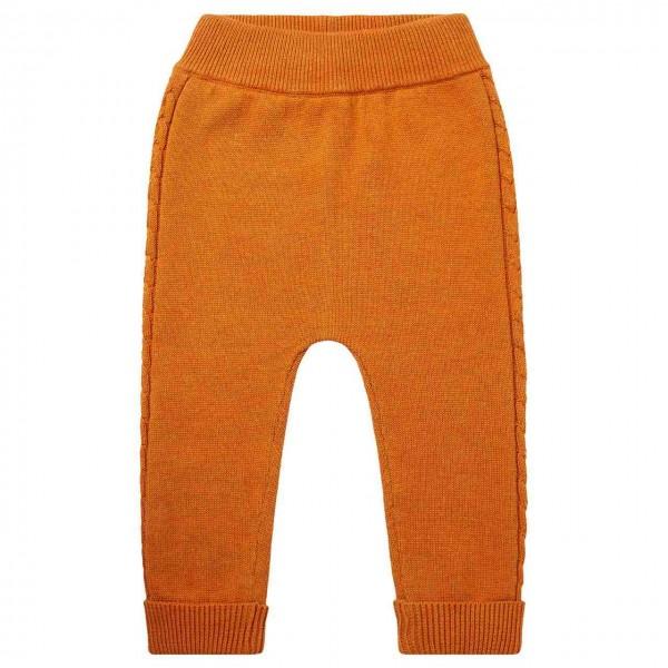 Baby Strickleggings in orange