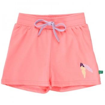 Leichte Mädchen Shorts koralle Federn