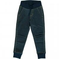 Schlupfhose als Jeans mit Bündchen medium dark denim