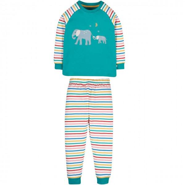 Schlafanzug mit Elefanten Aufnäher