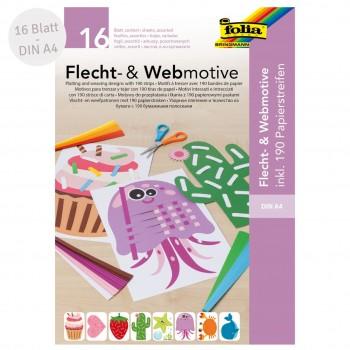 """Bastelset """"Flecht- und Webmotive"""" DIN A4 - 16 Blatt"""