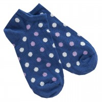 Sneaker Socken blau gepunktet