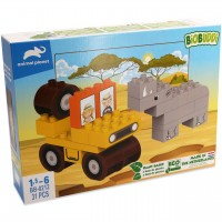 Bio Bausteine Set ab 18 Monaten – Safari Jeep