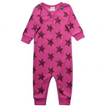 Strampler Sterne Pink Druckknöpfe