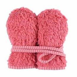 Plüschige Kleinkind Handschuhe - rosa