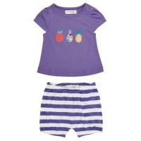 Baby Sommer Set aus T-Shirt und Shorts - lila