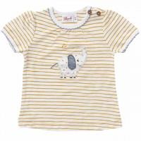 Mädchen T-Shirt Ringel Elefant senfgelb