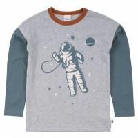 Langarmshirt Astronaut grau meliert