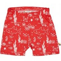 leichte Meereswelt Shorts rot