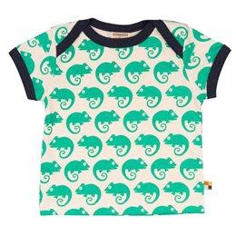 Loud and Proud Bio Shirt mit Geckos grün