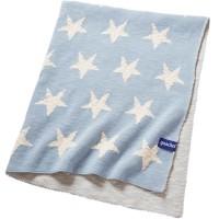 Vorschau: Bio Babydecke Himmel voller Sterne blau