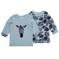 Bio Wendeshirt für Babys & Kinder mit 2 Motiven - Zebra