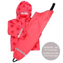 Regenbekleidung-Set ungefüttert in koralle