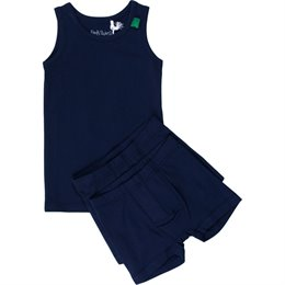 Set 1 Unterhemd 2 Shorts navy