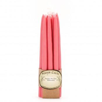 Maya Licht –Palmölfreie Kerzen 14cm 10er Set rosa