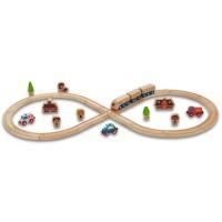 Eisenbahn mit Zubehör Starterset 32 Teile