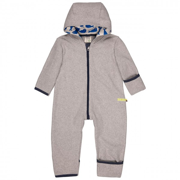 Warmer Fleece Overall Robben grau