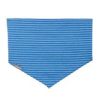Elastischen Halstuch zum Binden blauer Ringel