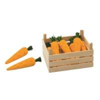 Gemüsekiste für Kaufmannsladen - Möhren