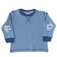 Langarmshirt Ringel blau Patches