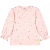 Leichtes Slub Jersey Shirt langarm in rosa
