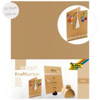 Kraftkarton DIN A4 50 Blatt beige