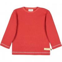 Shirt langarm Waffelstrick in rot