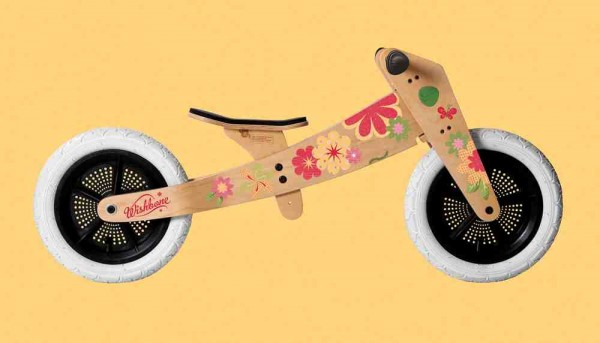 """Sticker """"Blumen"""" für Wishbone Holz Bikes"""