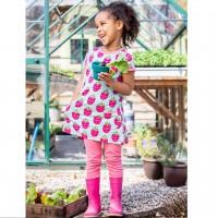 Kurzarm Tunika Himbeere pink