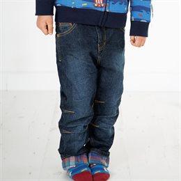 Warme Flanell Jeans zum Krempeln