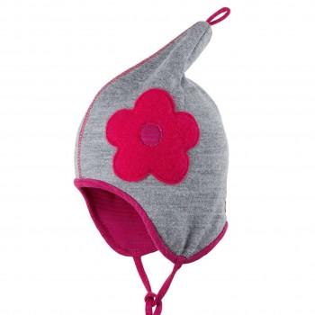 Wolle Baumwolle Zipfelmütze atmungsaktiv pink