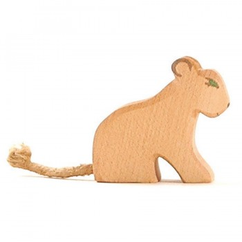 Kleiner Löwe Holzfigur 5,5cm hoch handbemalt