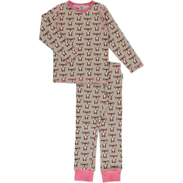 Rehe Schlafanzug normal dünn und elastisch