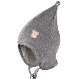 Neutrale Baby Mütze Nicki zum Binden