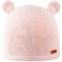Öhrchen Strickmütze Wolle Seide rosa