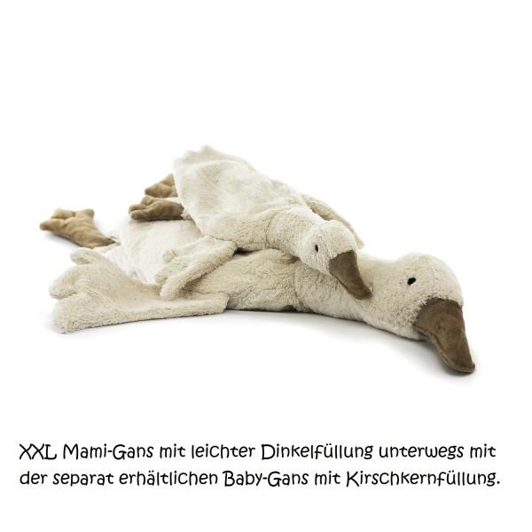 XL Kuscheltier & Wärmekissen Gans Dinkel