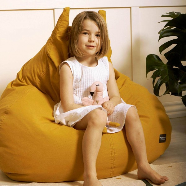 Kinder Sitzsack 90 x 100 x 80 cm - gelb