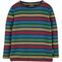 Griffiges Shirt langarm Regenbogen-Design