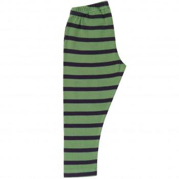 Streifen Leggings grün-navy