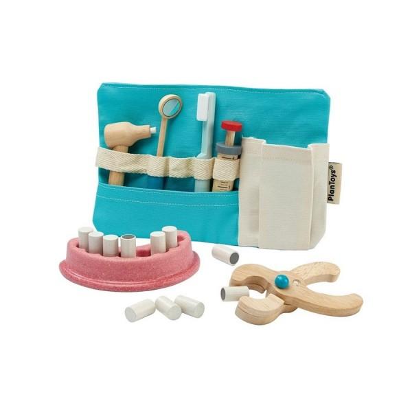 Kinder Zahnarzt Set aus Holz mit Tasche ab 3 Jahre