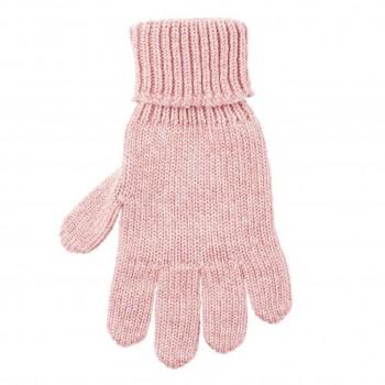 Kinder Handschuhe korall-rosa Strick