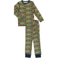 Zweiteiliger Schlafanzug Rennautos grün