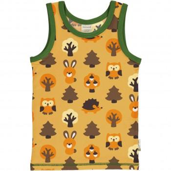 Unterhemd Wald Tiere in gelb